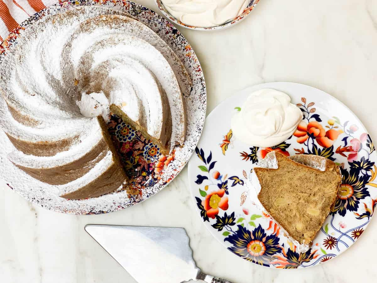 Spiced Apple Bundt Cake with Olive Oil