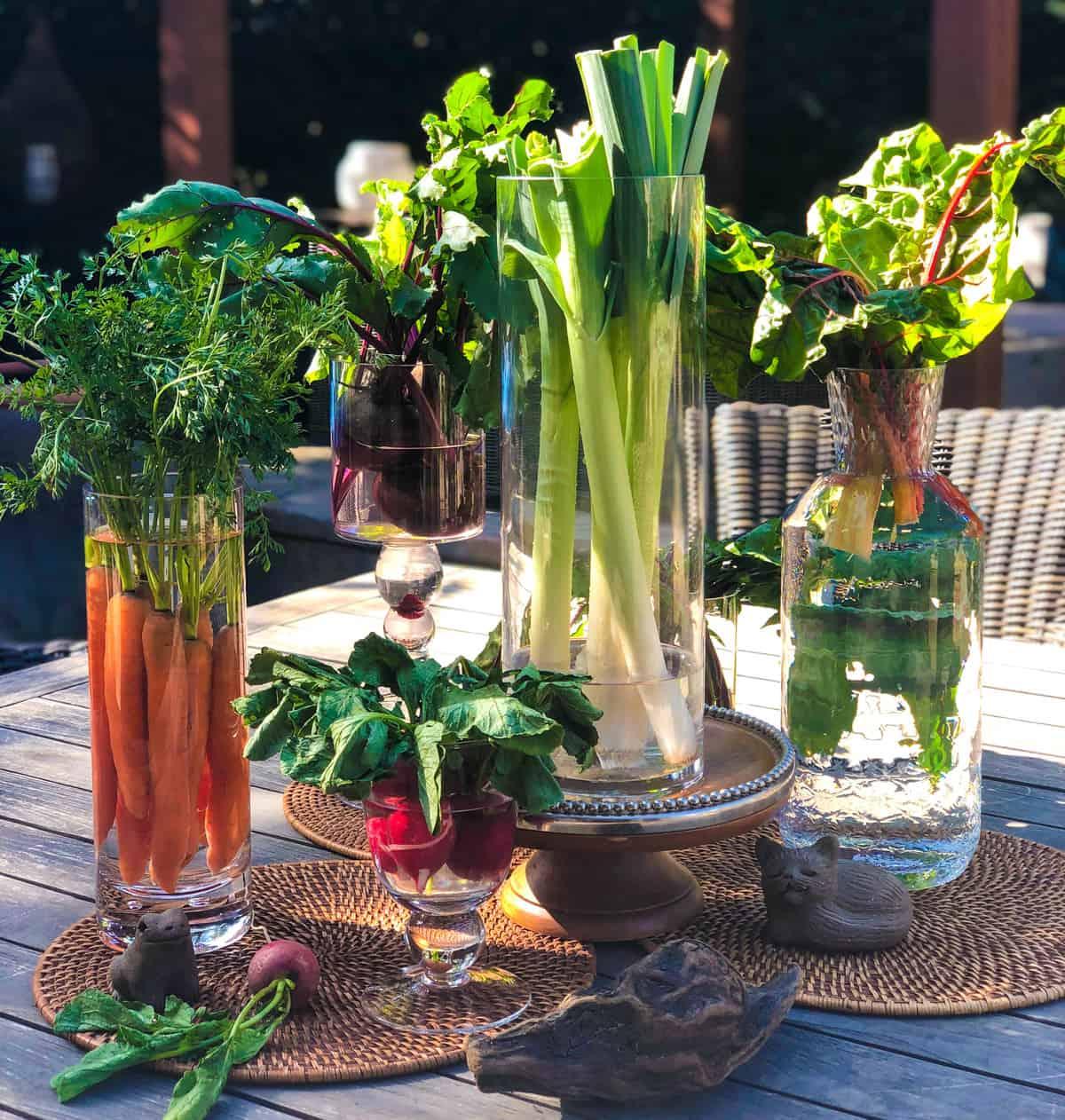 Living Cornucopia Table Arrangement