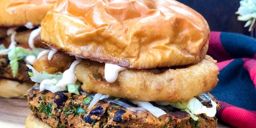Sunshine Sweetpotato Burger