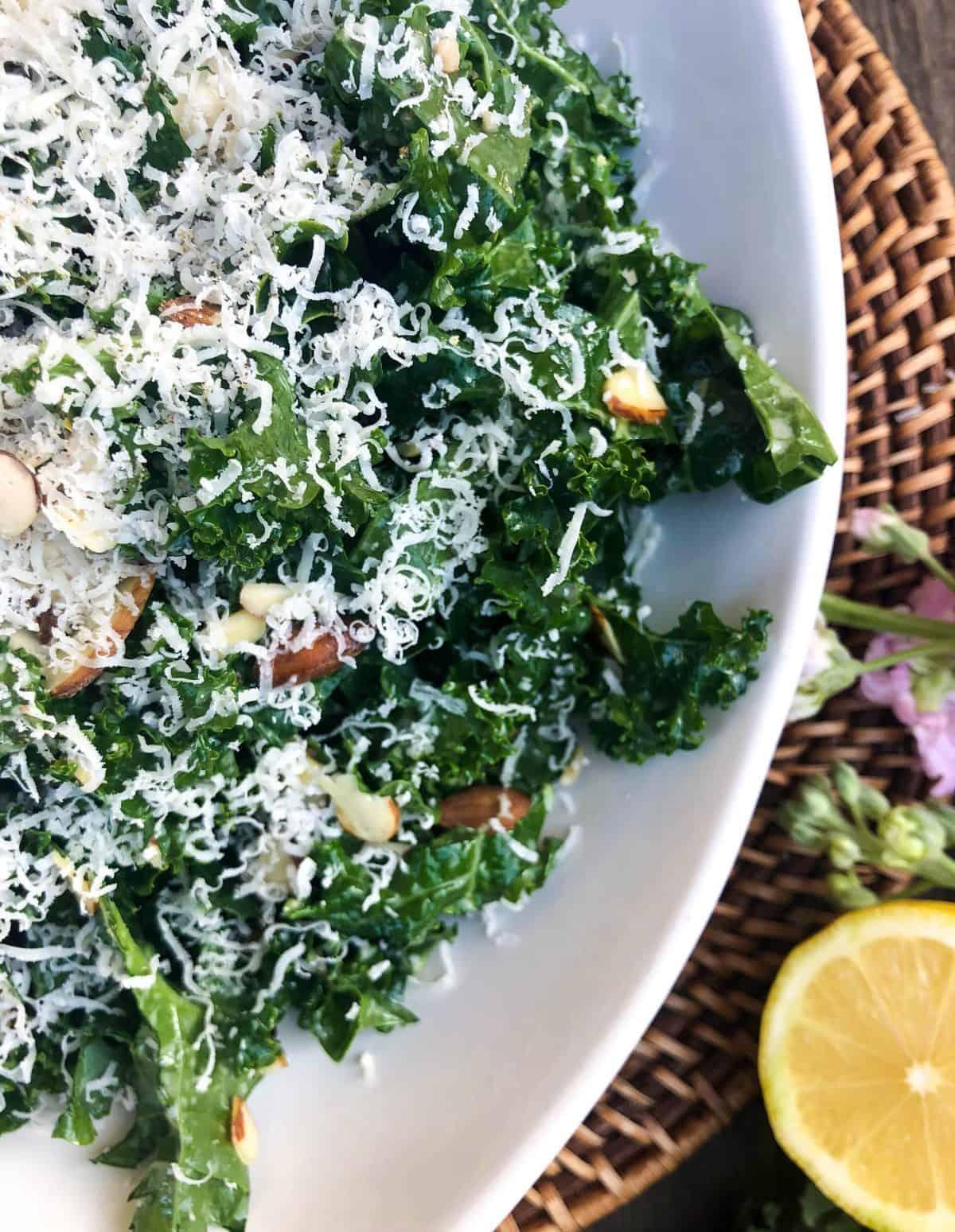 Kale Caesar Salad with Almonds