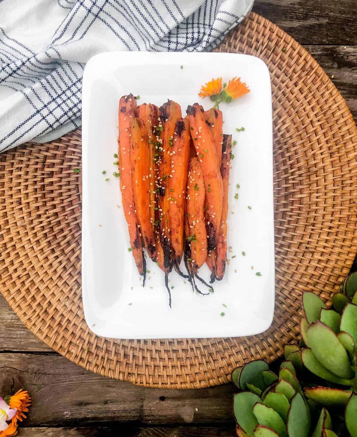Roasted Miso Carrots