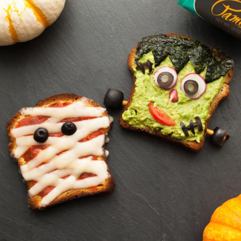 mummy Frankenstein monster toast