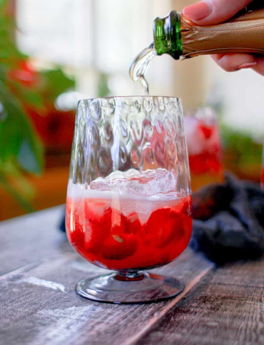 Strawberry Lemon Smash Wine Cocktail