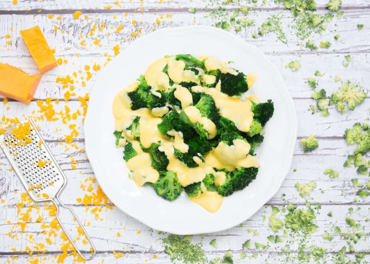 broccoli cheese sauce. get kids excited about healthy foods.