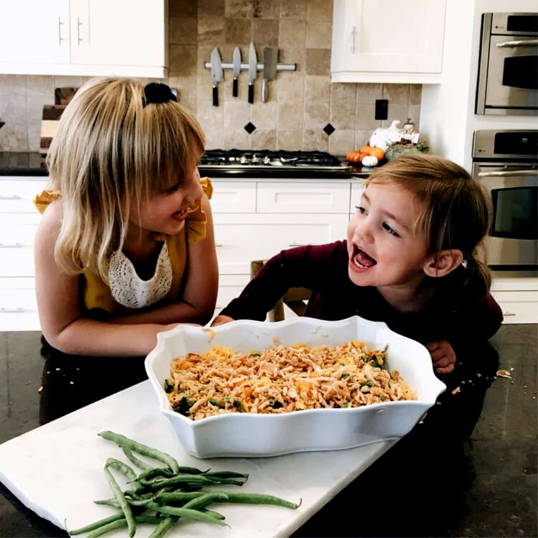 Green Bean Casserole. Deliciously healthy dishes kids can help make...and eat