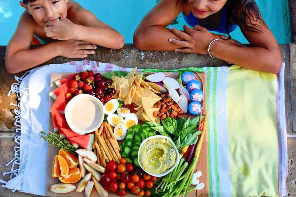 Pool party platter. Deliciously healthy dishes kids can help make...and eat