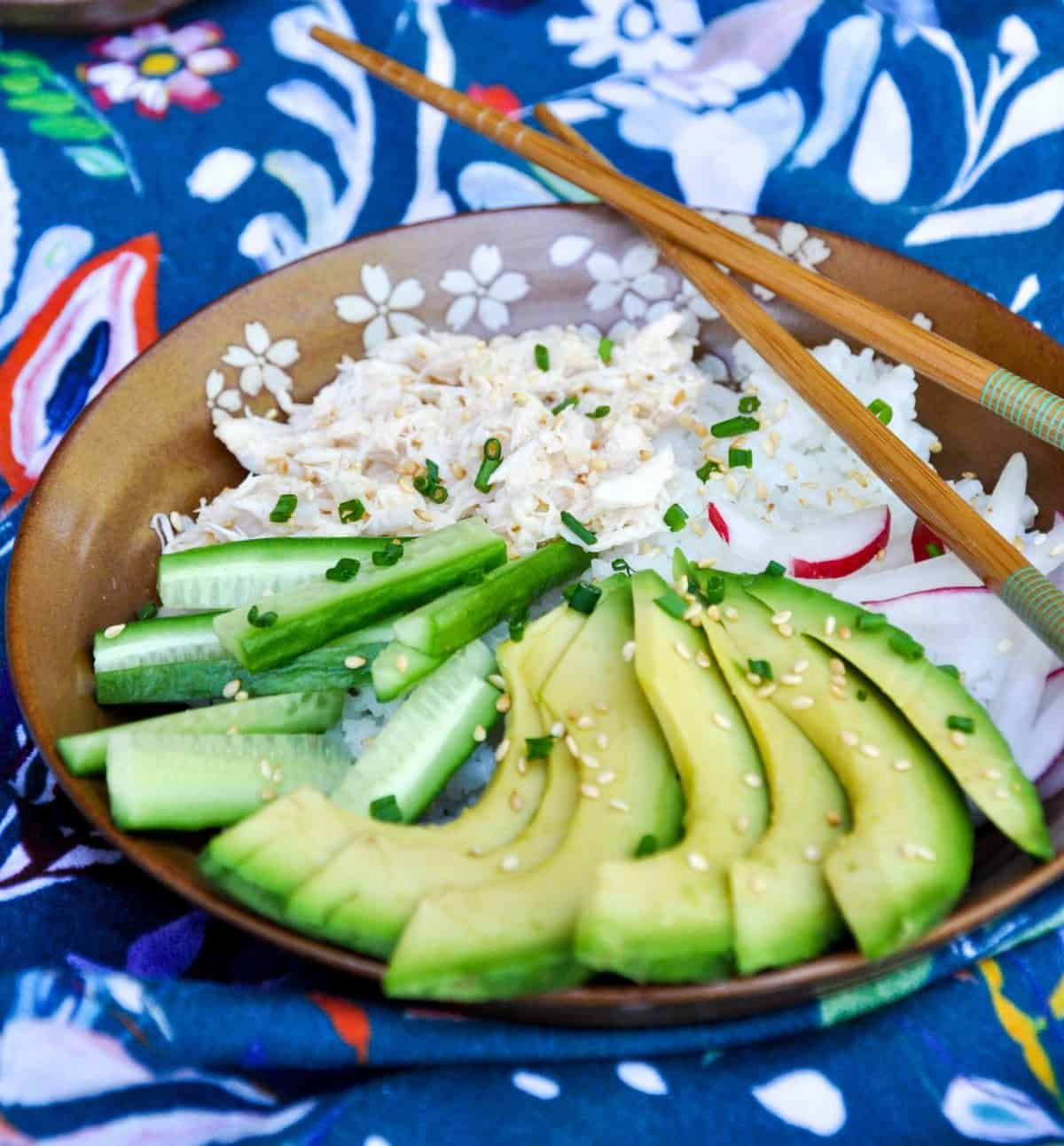 California Roll Bowl. Deliciously healthy dishes kids can help make...and eat