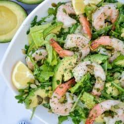 plate of Avocado Citrus Shrimp Salad