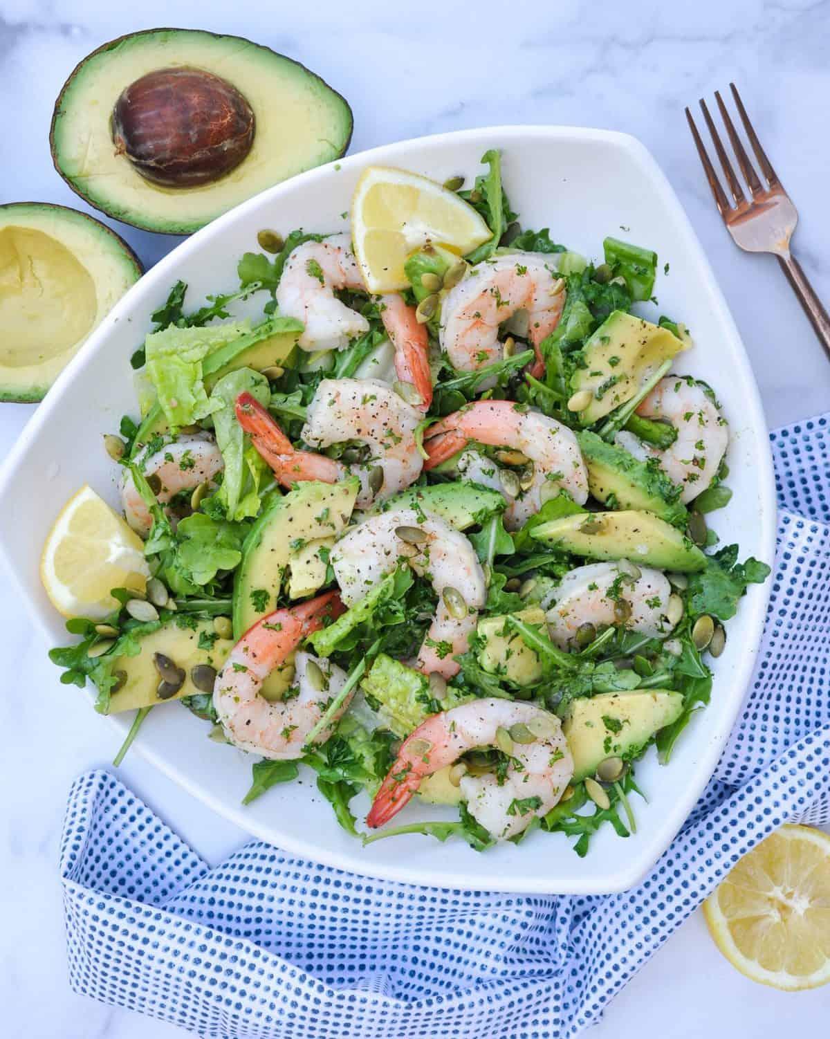 Avocado Citrus Shrimp Salad