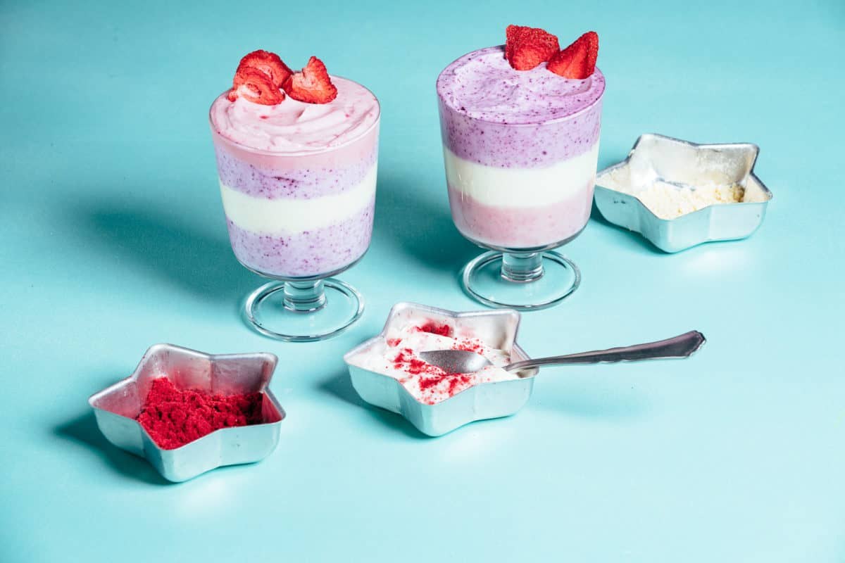 unicorn yogurt parfaits