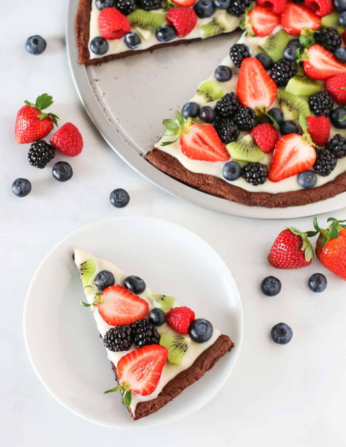 brownie fruit pizza recipe desserts kids can make