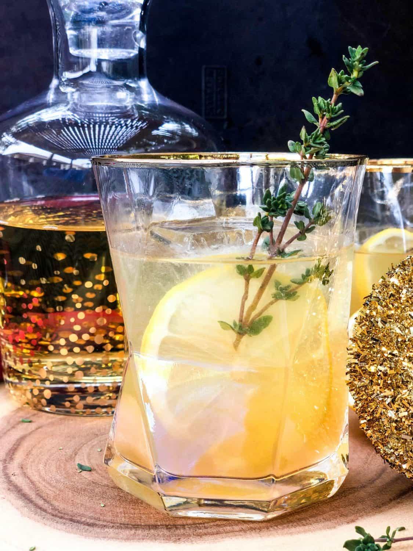 Cocktail with California Wine, Citrus, Honey
