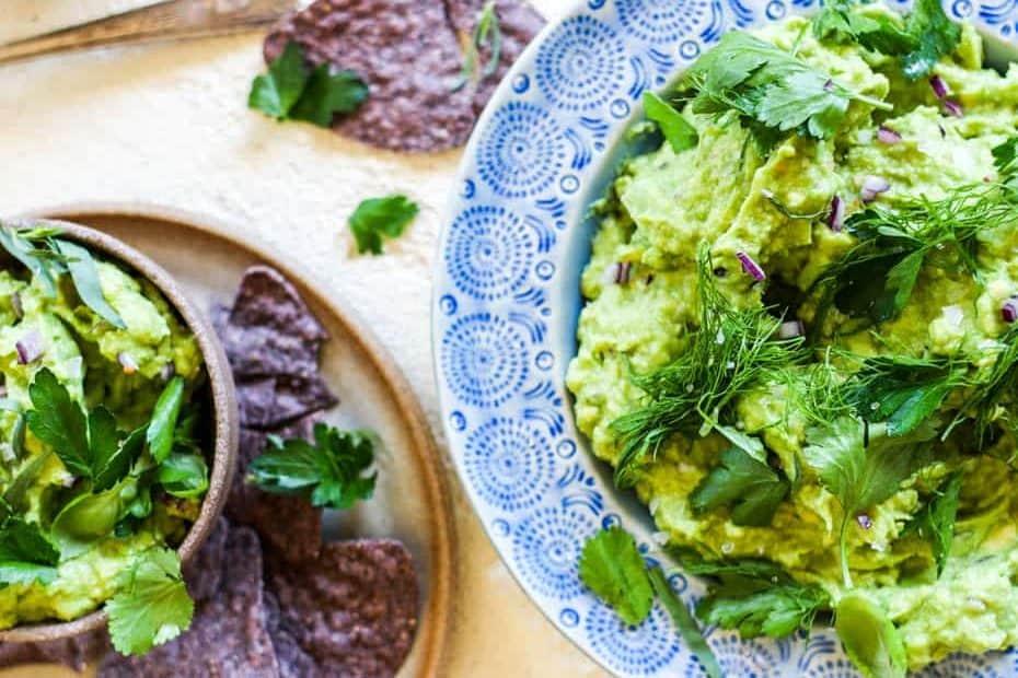 Herby Avocado Guacamole