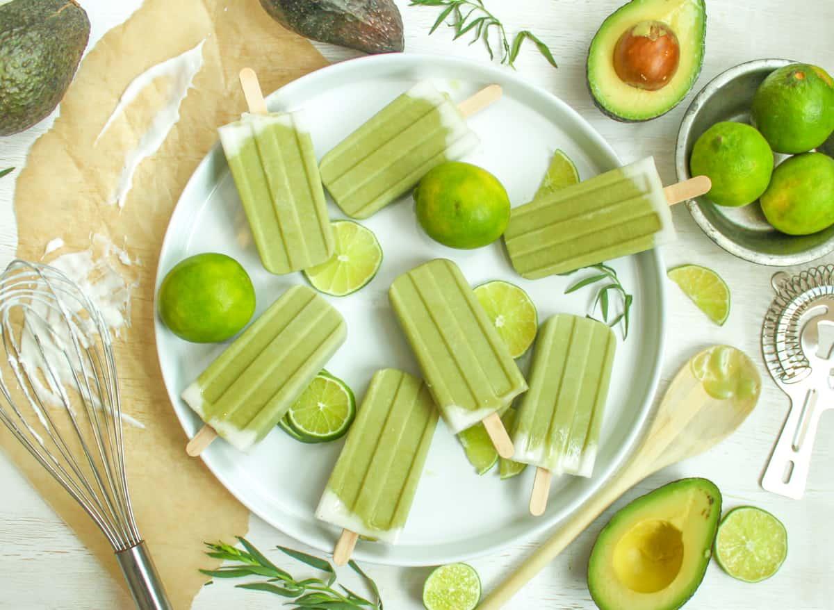Avocado Recipe Round Up Tropical Avocado Popsicle