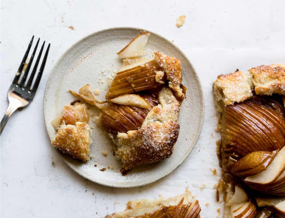 Salted Honey Pear Crostata