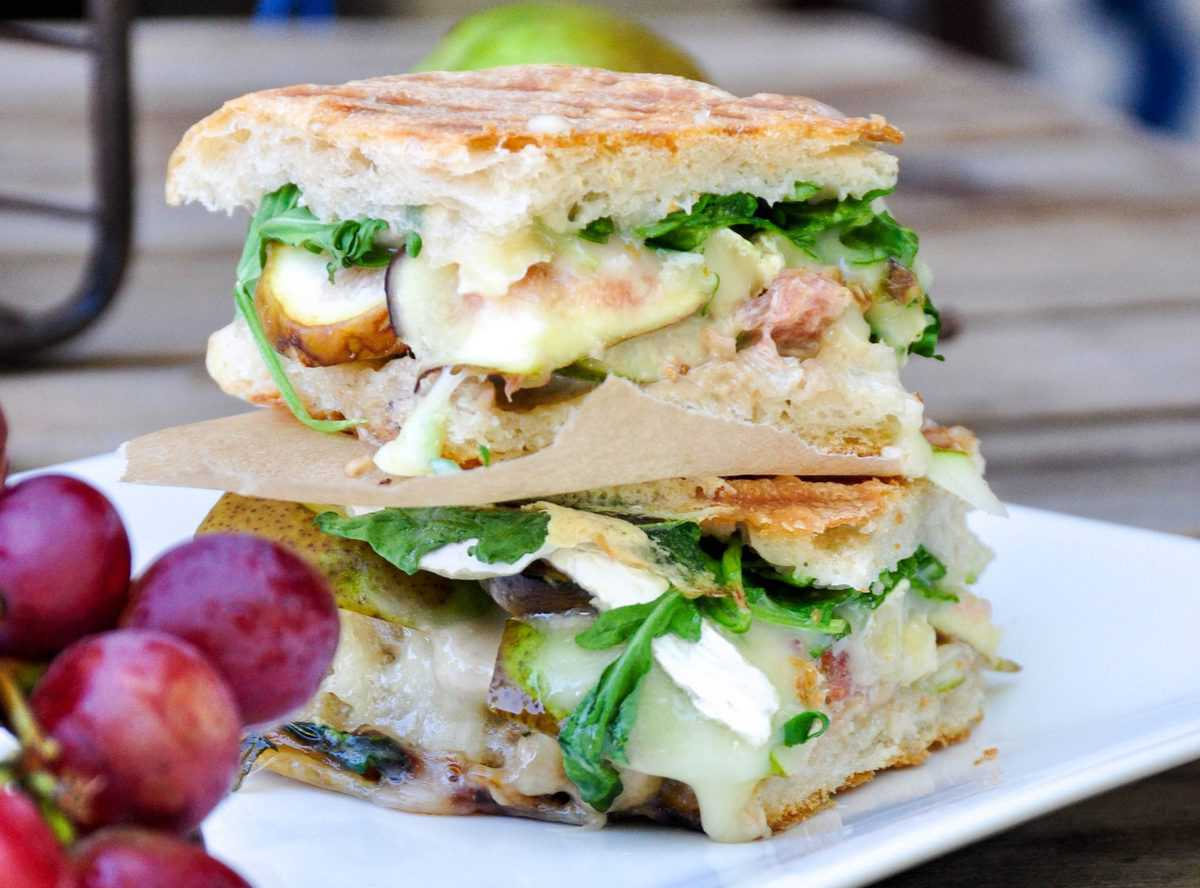 Pear and Fig Panini