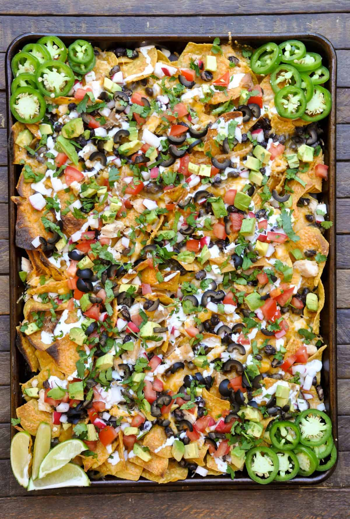 Loaded Fresh Vegetable Sheet Pan Nachos