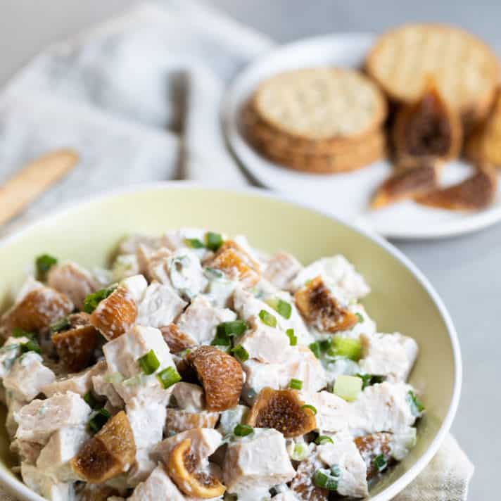 Rotisserie Chicken Salad with California Figs recipe