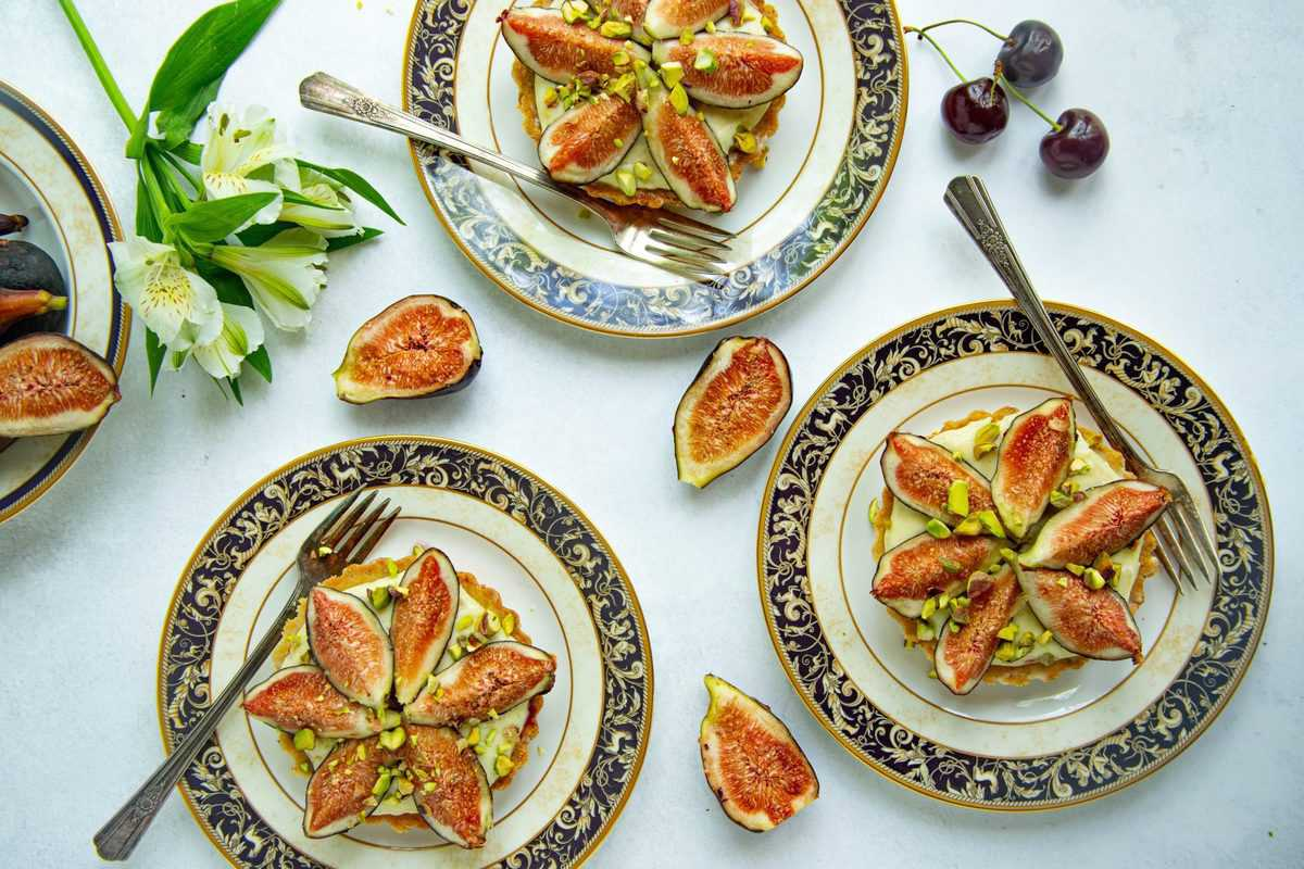 Fig Cherry and Pistachio Tart by Bakes by Brown Sugar for CA Grown