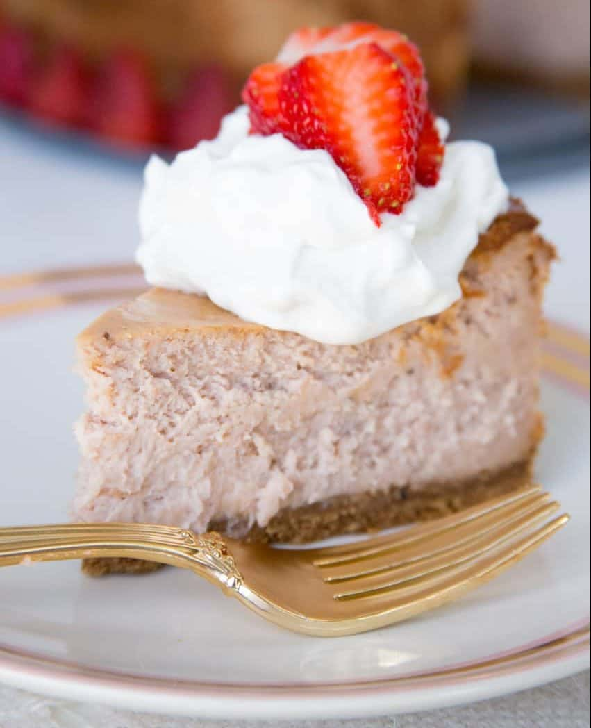 real strawberry cheesecake