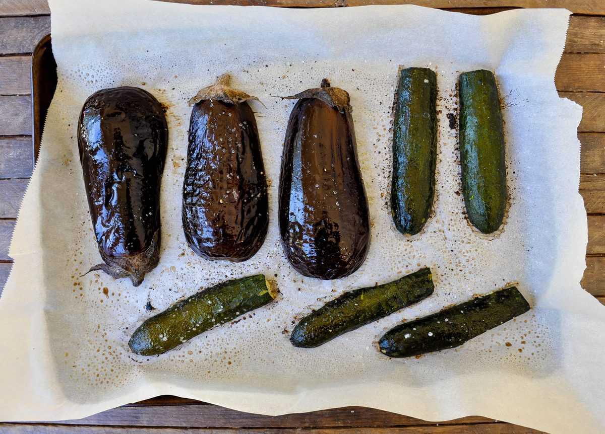 Roasted Zucchini and Eggplant