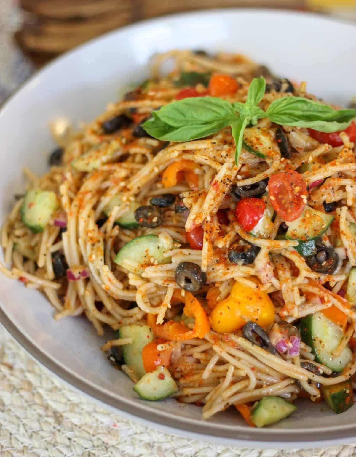 Spaghetti Salad recipe with California Ripe Olives