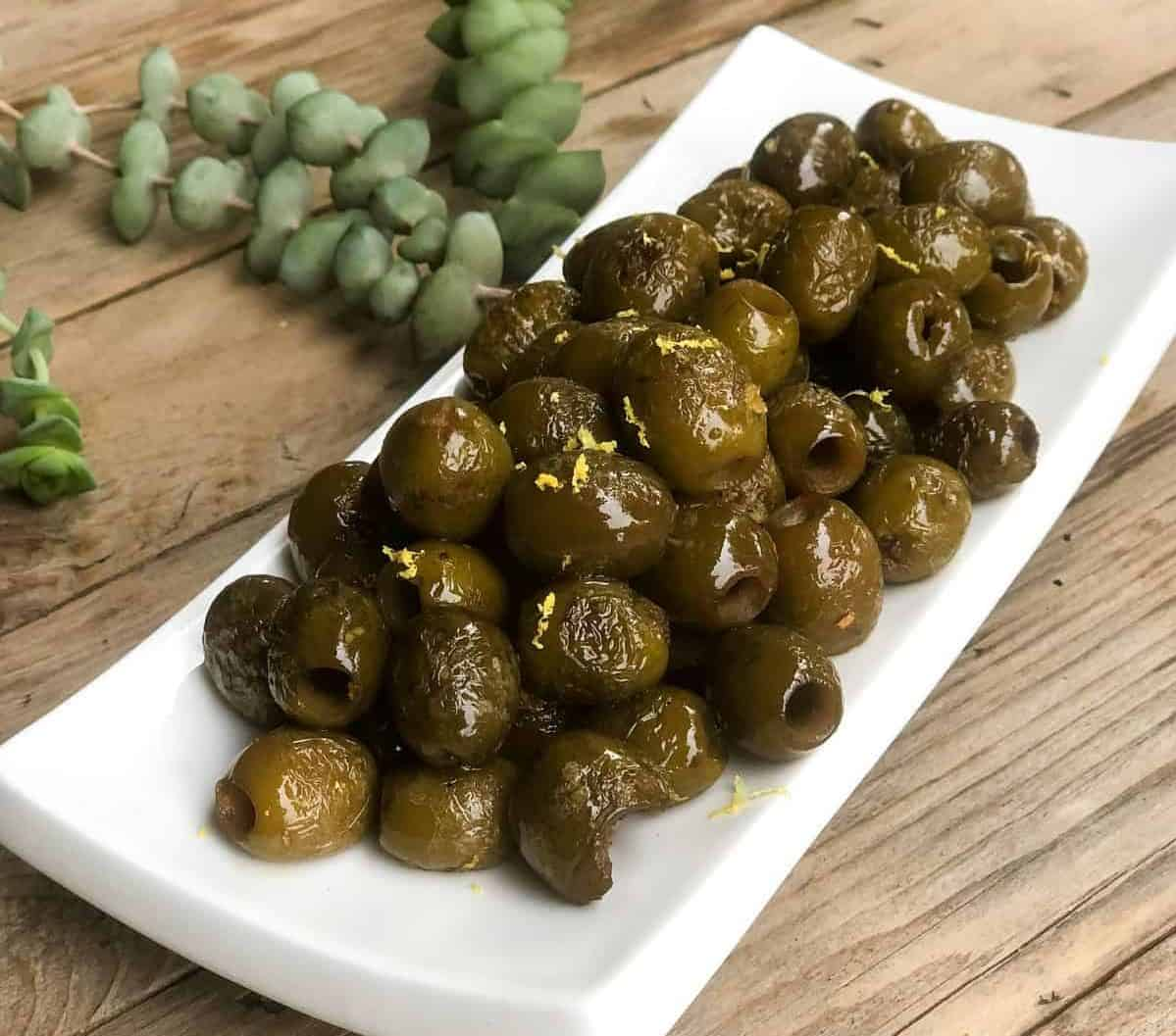 Blistered Olives Recipe using California Ripe Olives