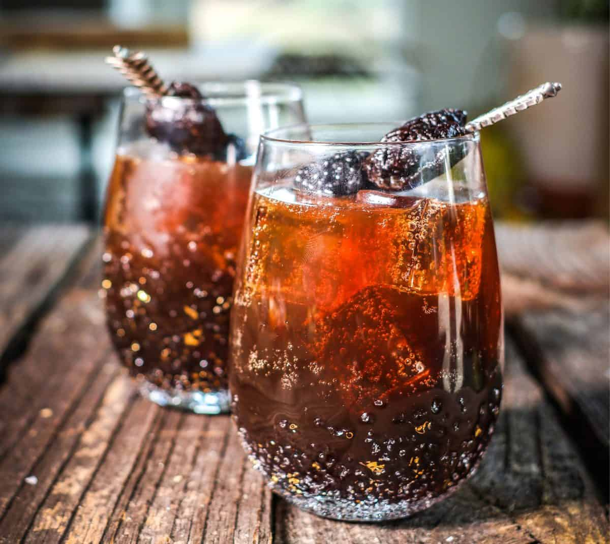 Stormy Sparkler cocktail recipe starring California Prunes