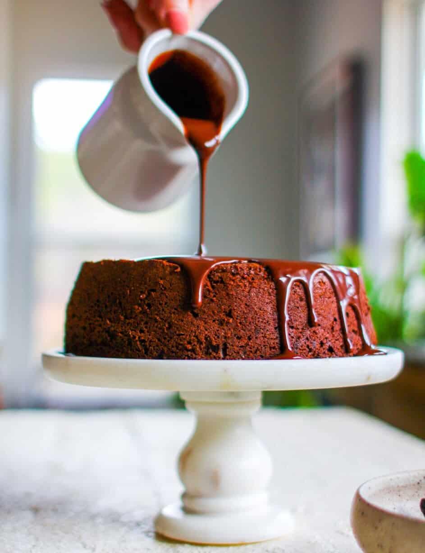 Chocolate Covered Prune Fudge Cake recipe starring California Prunes