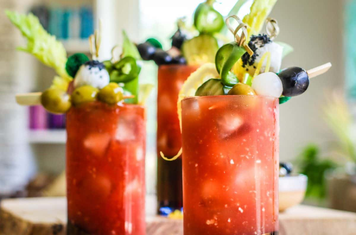 California style bloody mary recipe using CA Olives