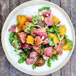 Arugula and Roasted Beet Salad with Olive Oil