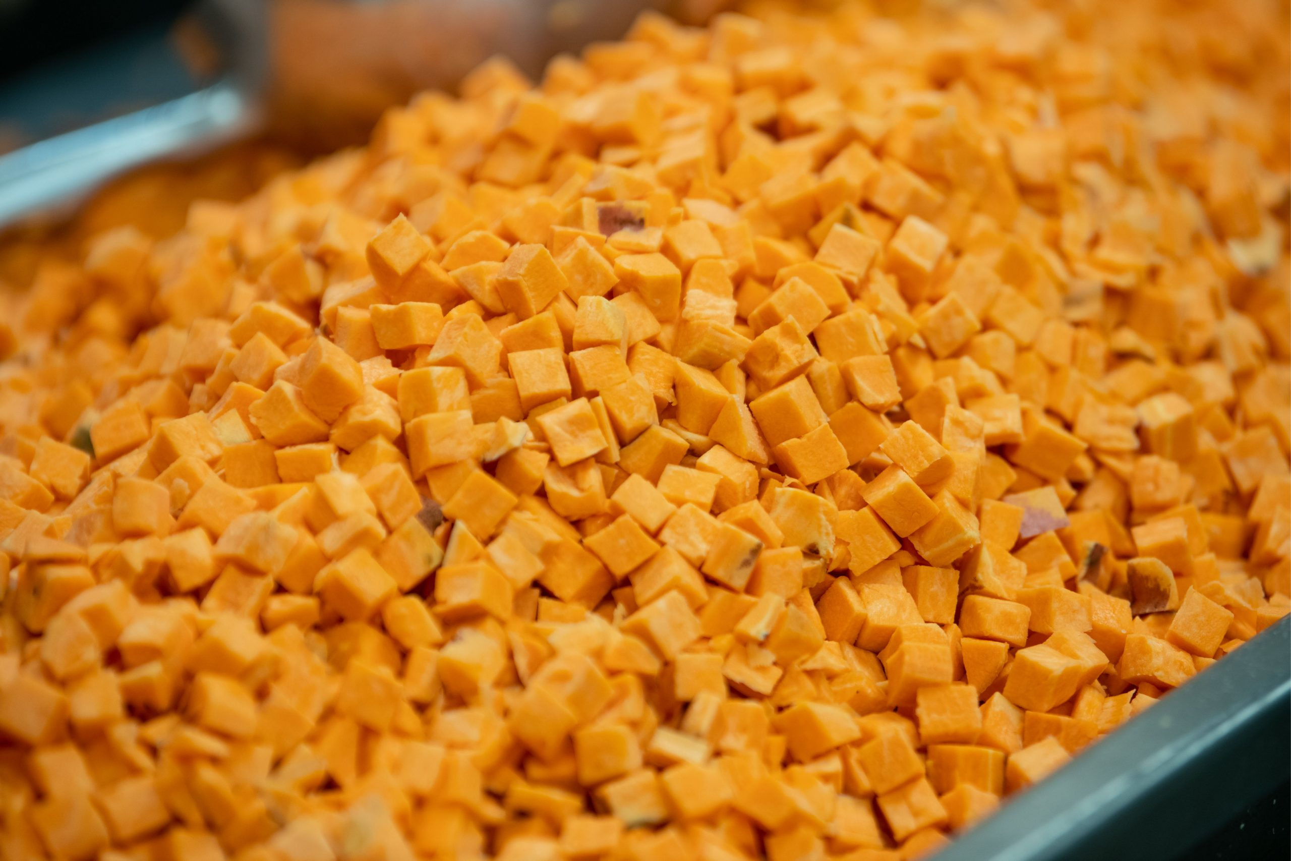 Cubed sweetpotatoes