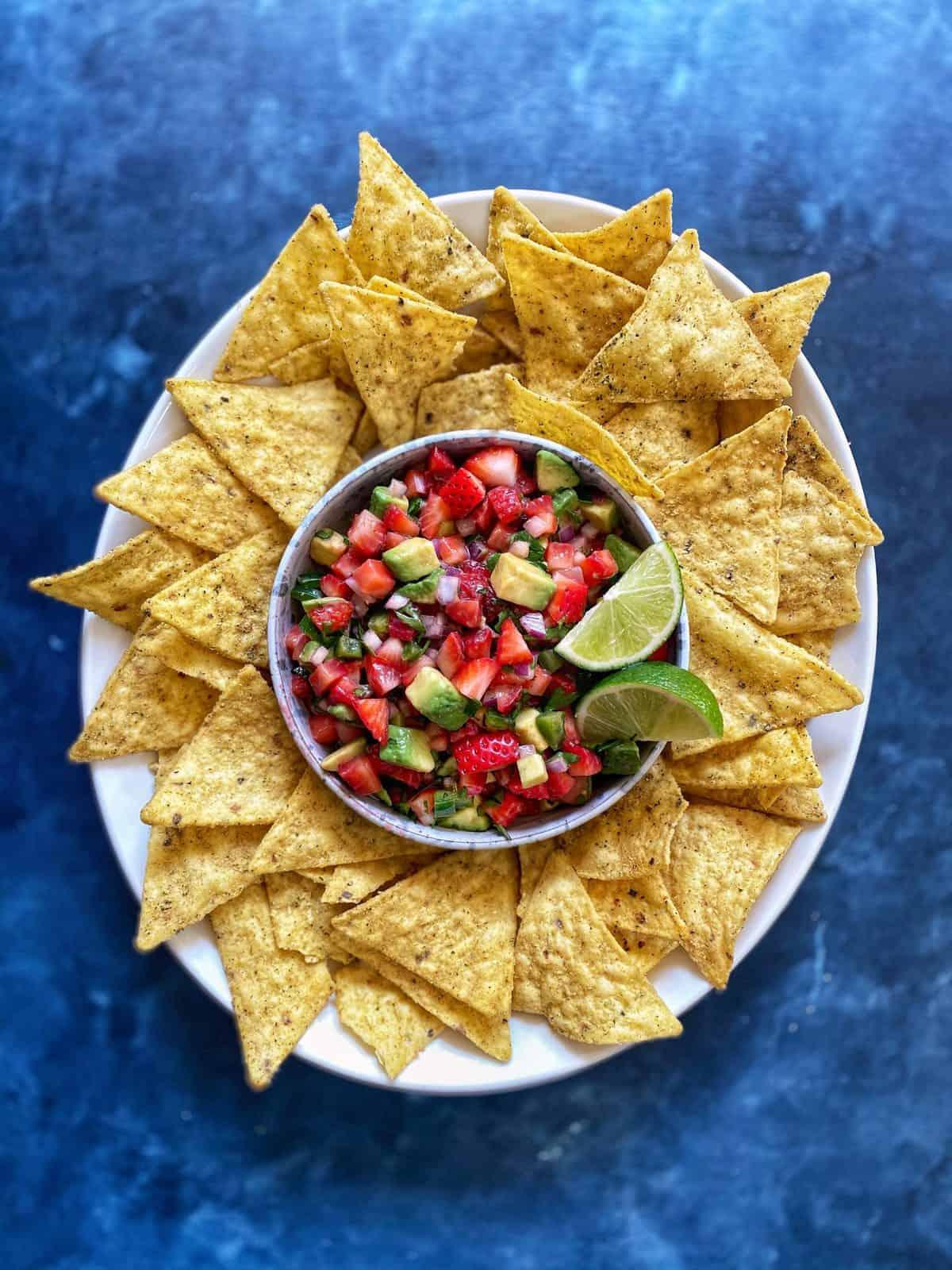 Strawberry Avocado Salsa: Sarah of The Delicious Life