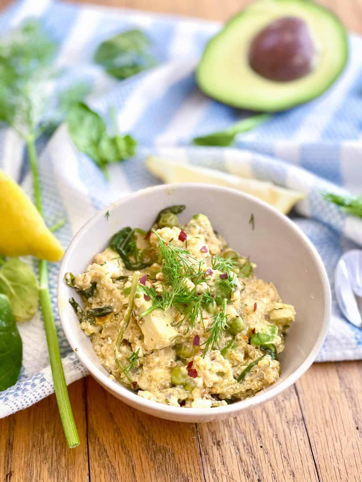 Greek-Inspired Spring Quinoa Salad: Kyra of Kyra's Bake Shop