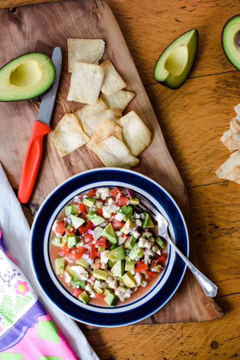 Vegan Ceviche with Avocado and Lime