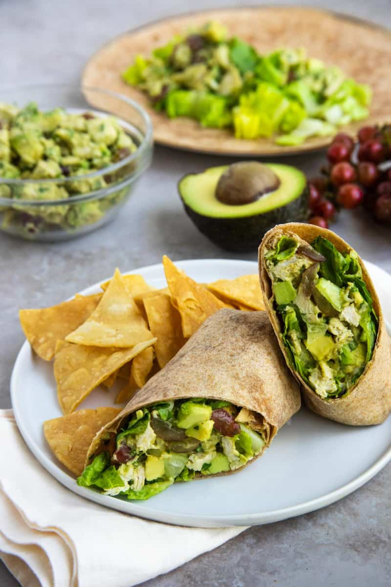 Avocado Chicken Salad Wraps from Bakes by Brown Sugar