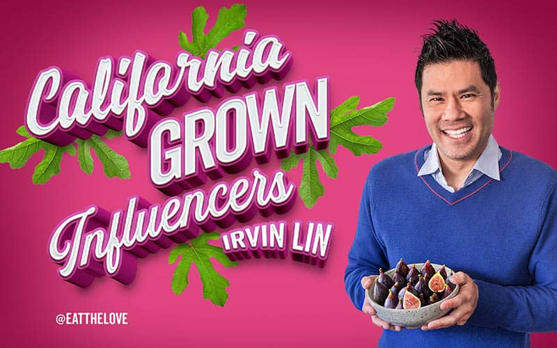 Irvin Lin holding a bowl of figs.