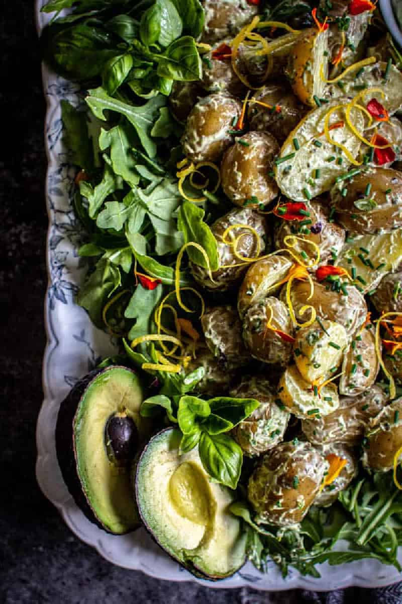 Potato Salad with Green Goddess Dressing from This Mess is Ours