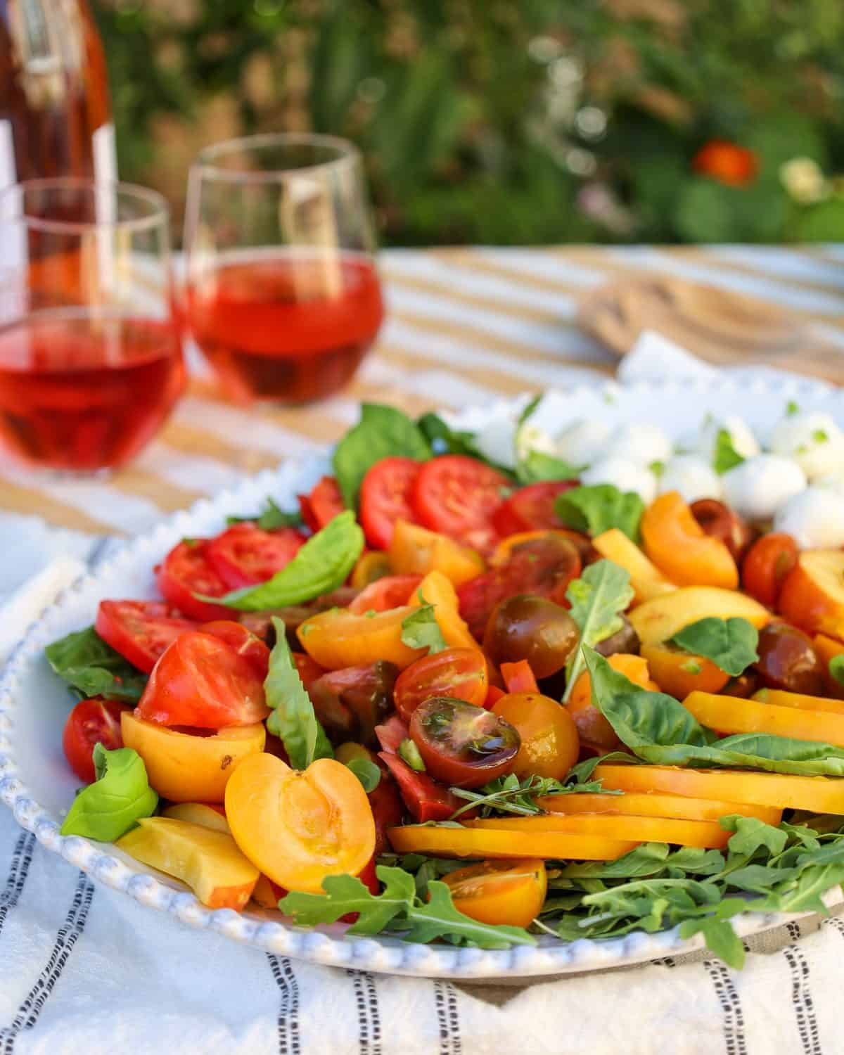 Heirloom Tomato Salad with Stone Fruits