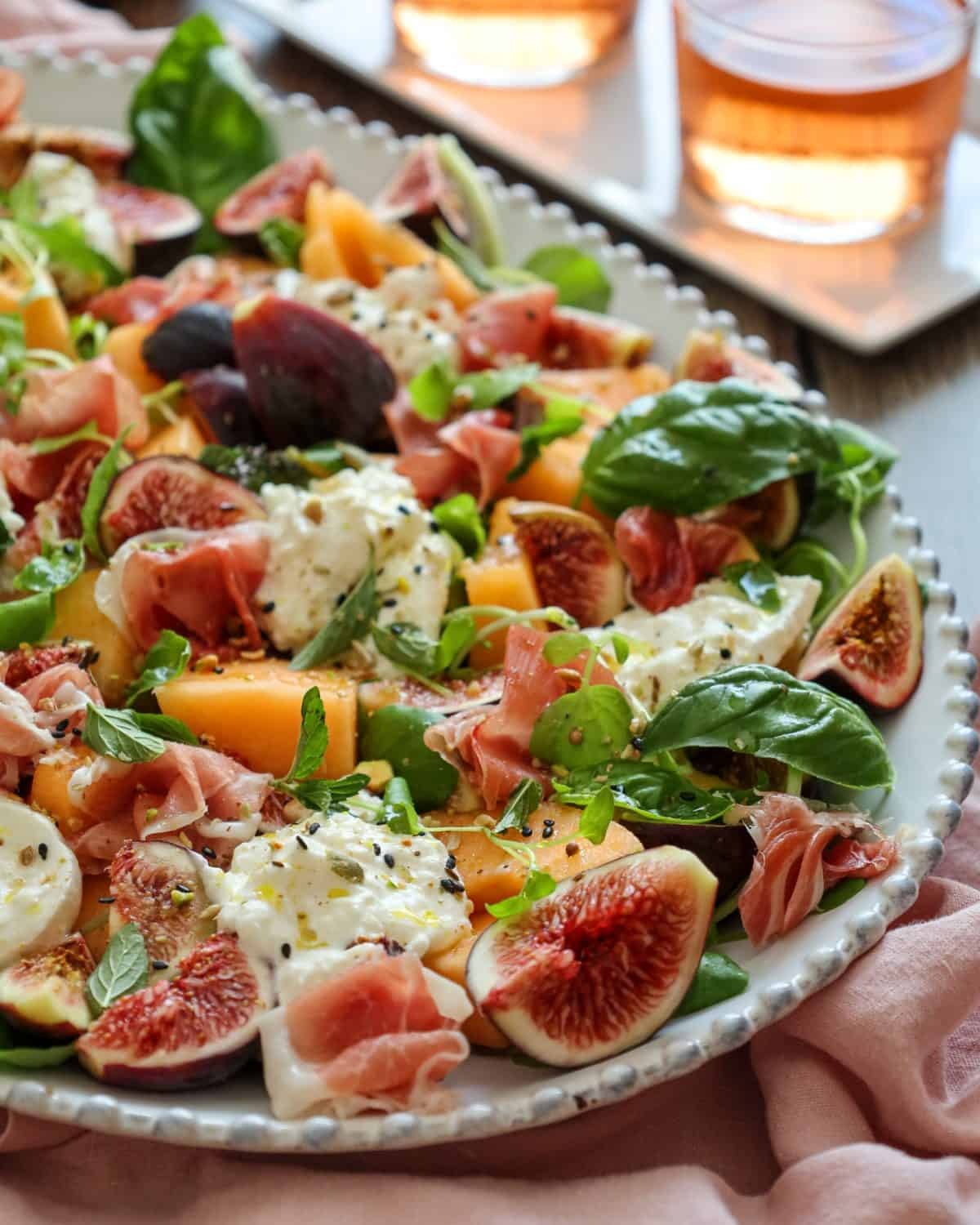 Summer Salad with Figs, Melon & Dukkah