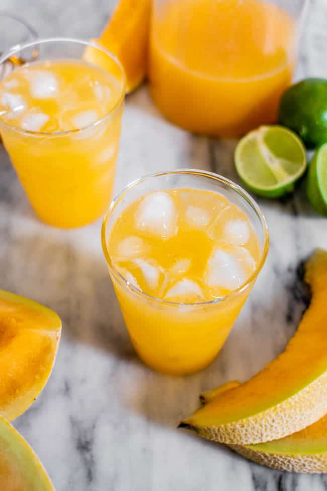 Our Cantaloupe Agua Fresca Recipe Is Sunshine in a Glass!