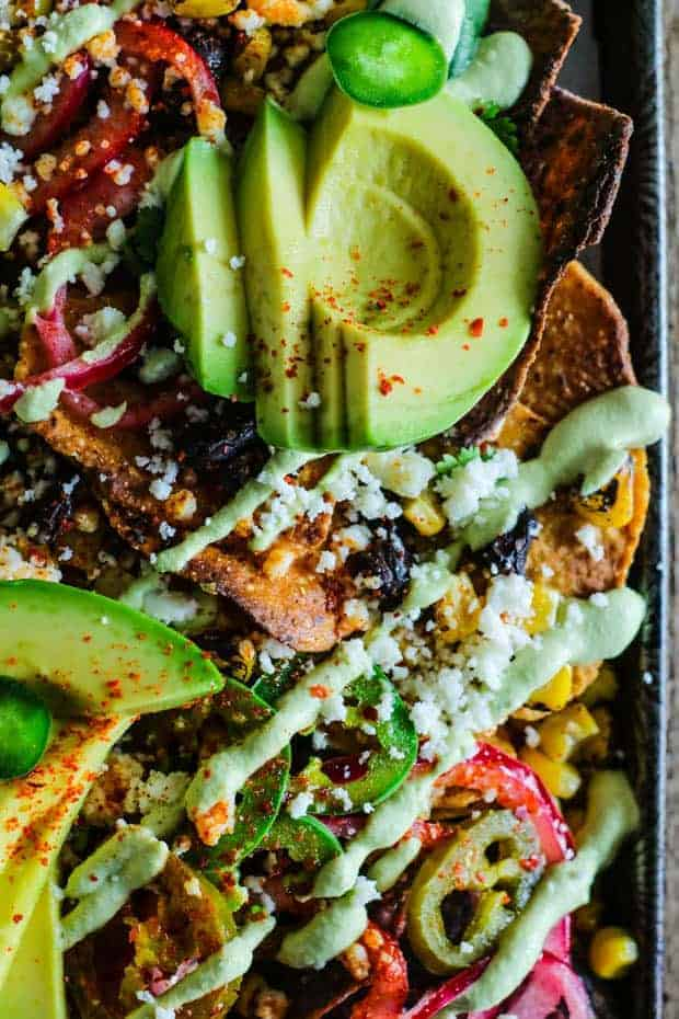 Happy Hour at Home Appetizer Sheet Pan Nachos from This Mess is Ours