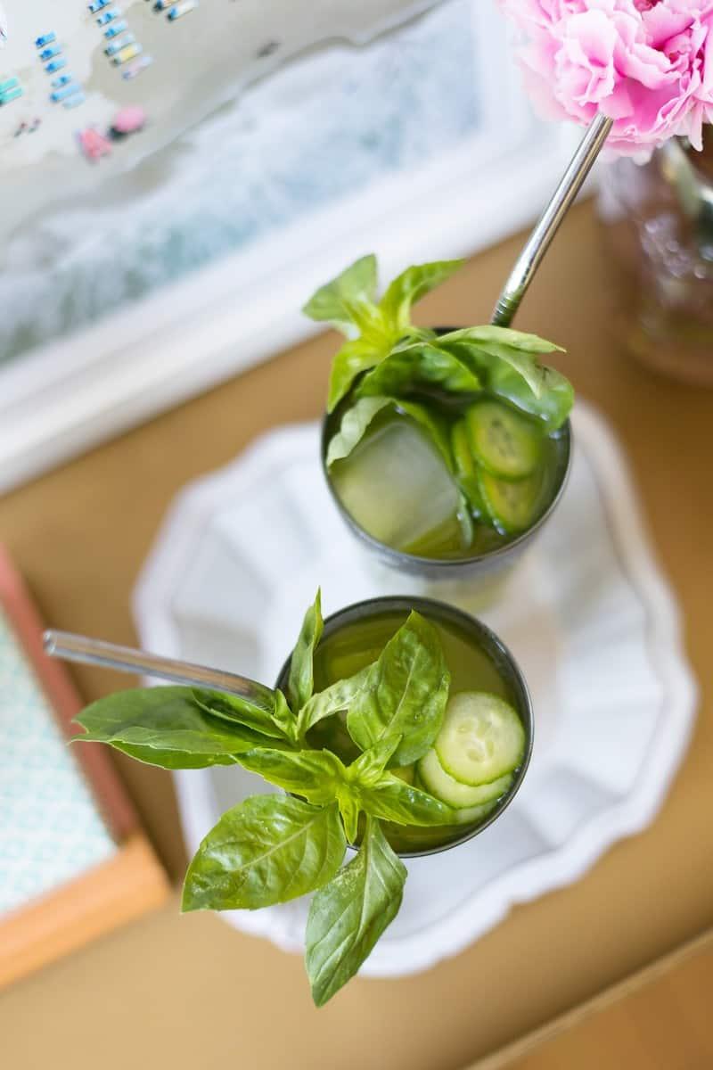 Cucumber Basil Agua Fresca Cocktail Recipe