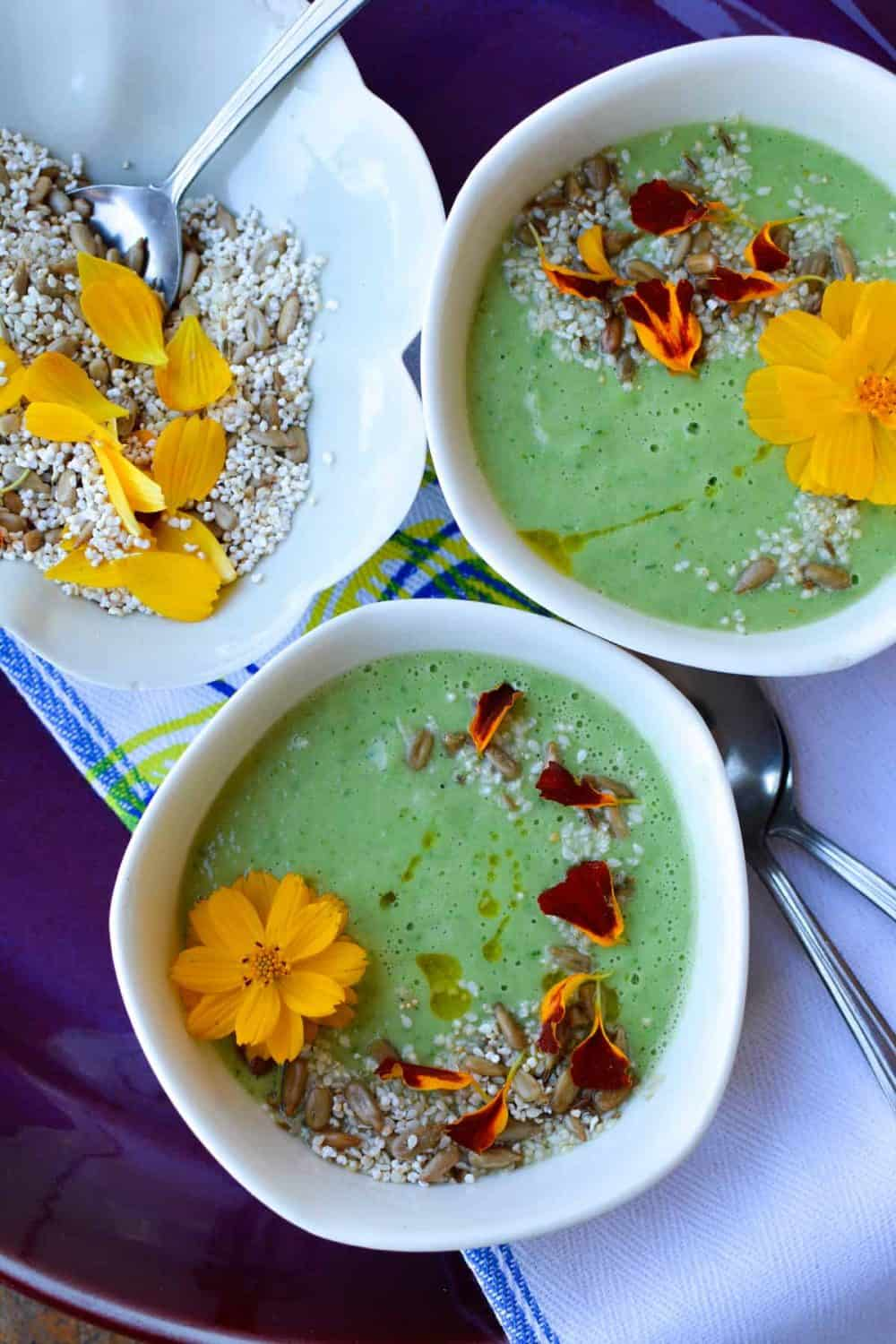 Chilled Avocado Soup from Hola Jalapeno