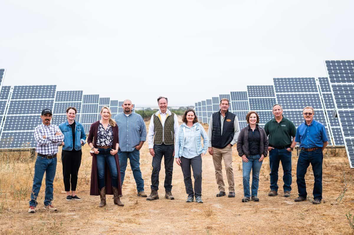 J. Lohr Team in Solar Array